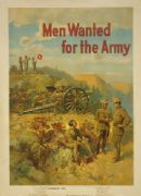 "Vintage American Recruitment Poster ""Men Wanted for the Army"""